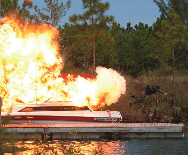 Burn Notice Season 4, filmed behind ZooMiami
