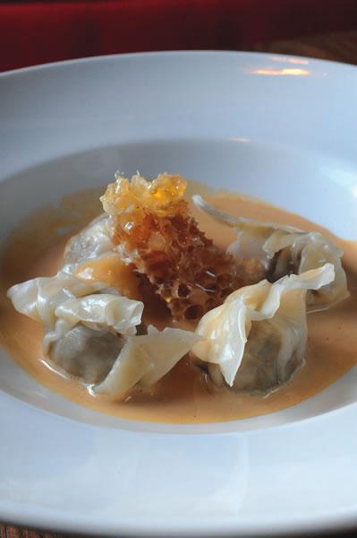 Sparrow - shiitake mushroom dumplings