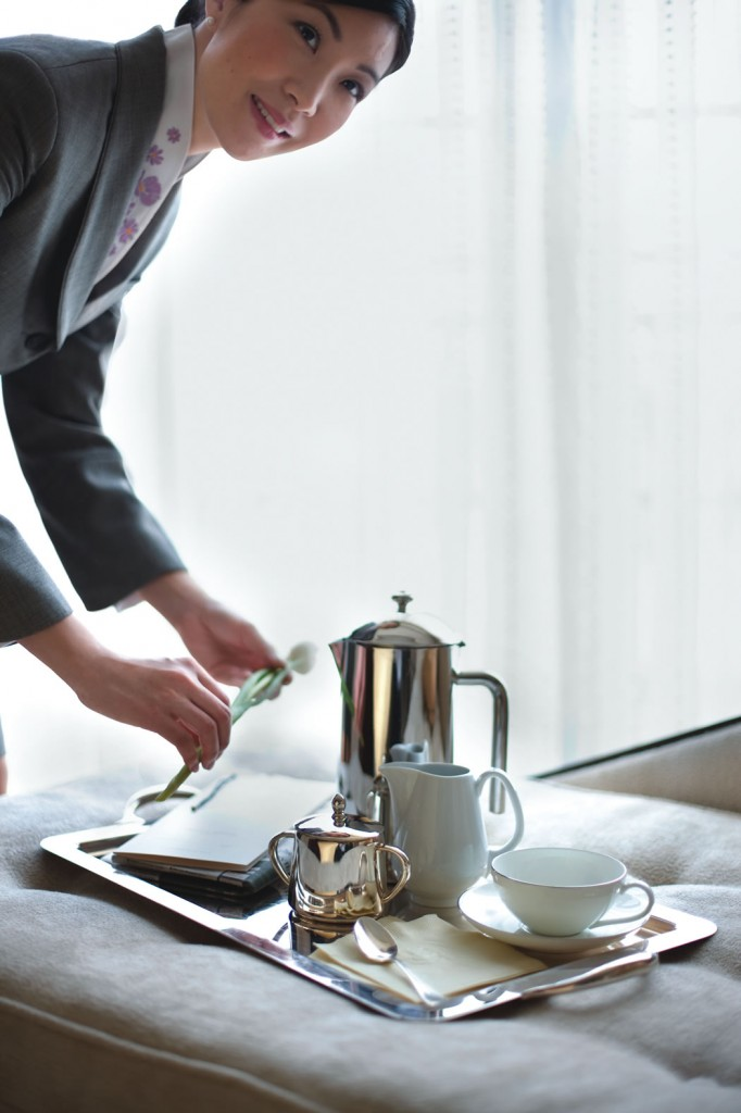 French-pressed coffee or tea service