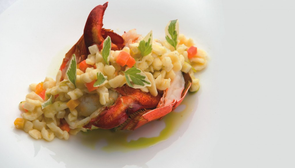 The menu at The St. Regis Princeville Resort's Kauai Grill boasts international flavors.