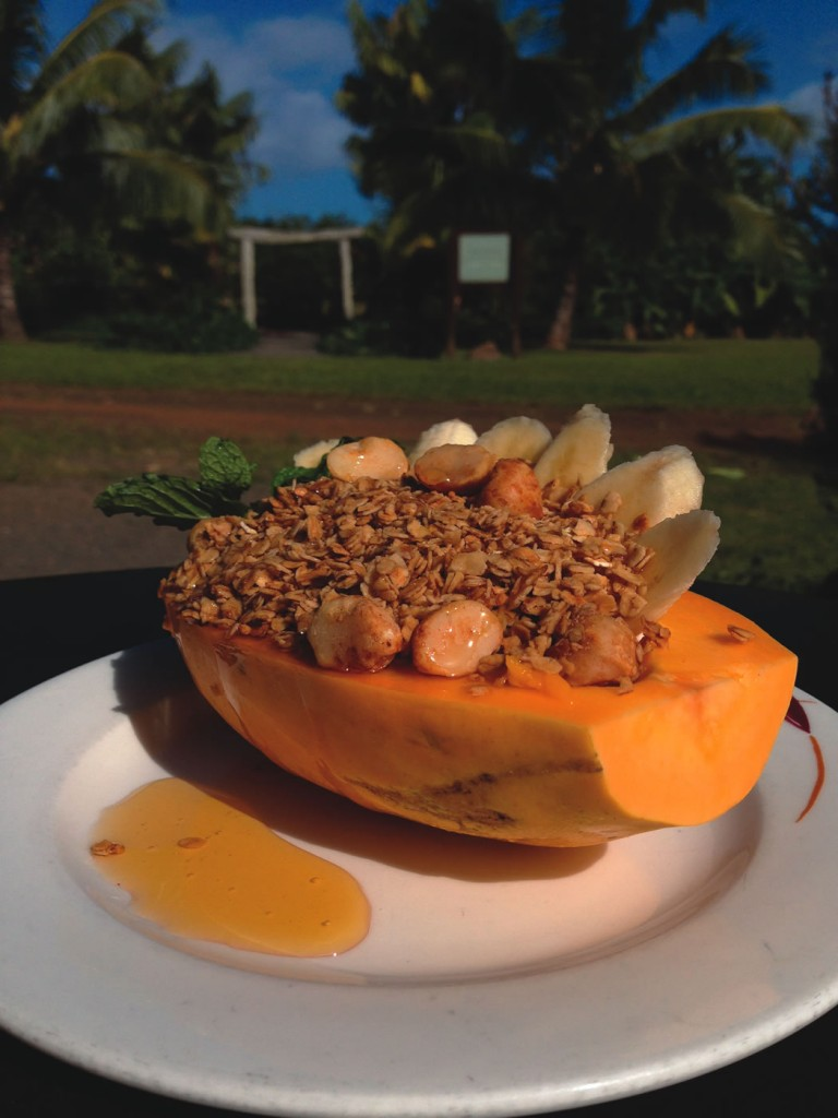 Papaya bowl from The Garden Cafe