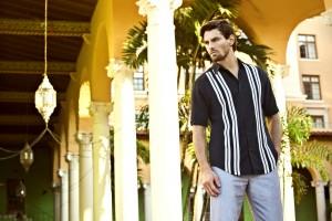 """Men can purchase classic """"guayabera"""" shirts from Cubavera."""