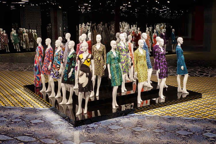 """Journey of a Dress,"" an exhibition documenting four decades of the designer's wrap dresses, debuted at the Los Angeles County Museum of Art earlier this year and was on display through spring."