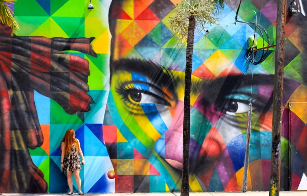 Visitors can discover local art at the Wynwood Art District.
