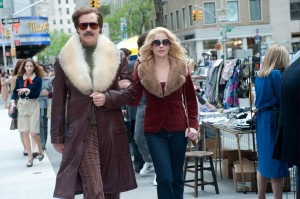 "Scenes from ""Anchorman 2: The Legend Continues"" starring Will Ferrell (left) and Christina Applegate (right) were filmed throughout Atlanta. 