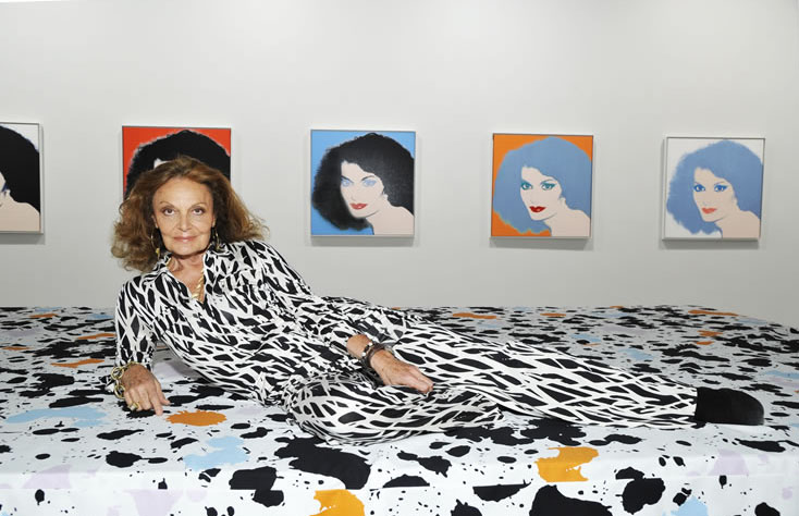 Von Furstenberg collaborated with the Andy Warhol Foundation for the 40th anniversary of the wrap dress.