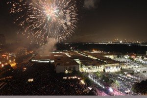 Lenox Square Mall celebrates Fourth of July with a festive fireworks display. | Ben Rose Photography