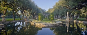 The formal gardens at Vizcaya feature an Italian-style landscape designed by Paul Chalfin.