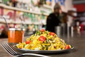 Meherwan Irani, executive chef of Chai Pani, makes the most of this season's produce in his corn bhel dish.