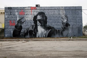 Wynwood mural by artists Retna and El Mac | Courtesy of Primary Projects