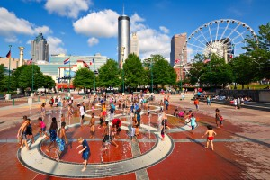 Centennial Olympic Park is a popular movie set tour destination for visitors. | Sean Pavone