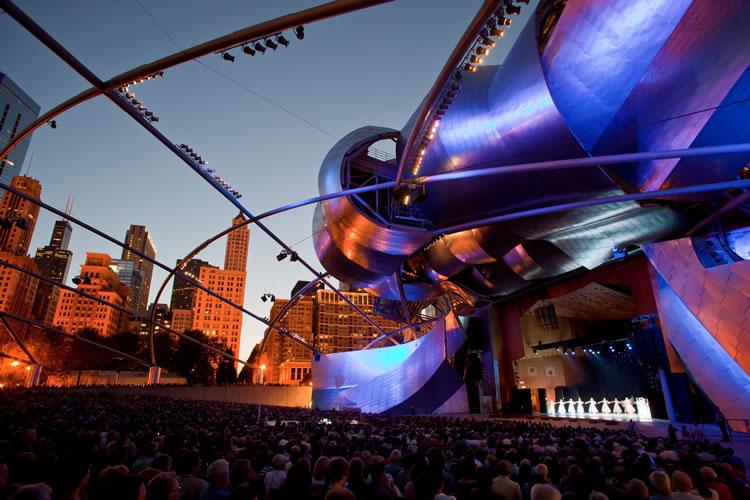 Jay Pritzker Pavilion (Photo by Todd Rosenberg)