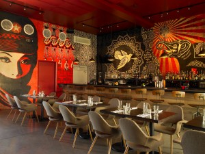 Wynwood Kitchen & Bar features artwork from international artists. | Gary James