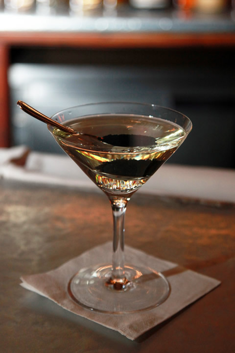 Caviar martini at Pravda